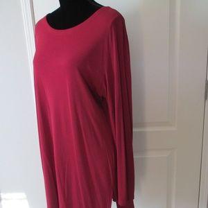 Eileen Fisher 100% Silk Cranberry Tunic Size XL TG